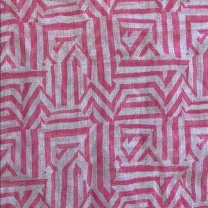 J. Crew Factory Pink & White Scarf